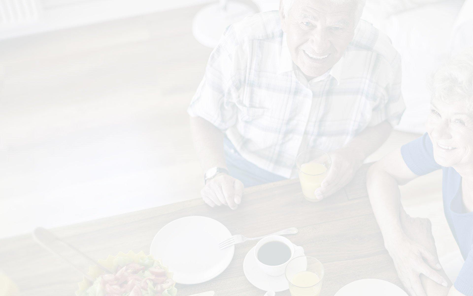Senior Couple Enjoying Breakdfast